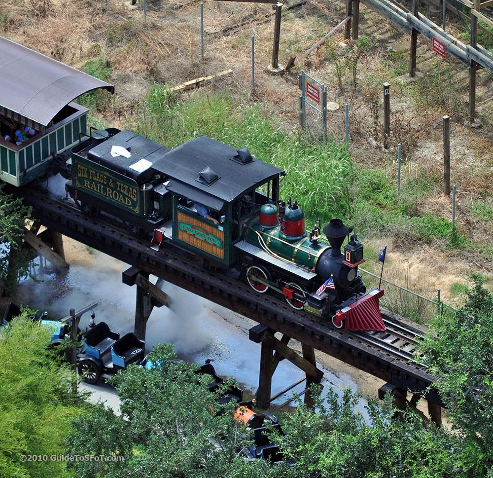 Train dumping excess steam