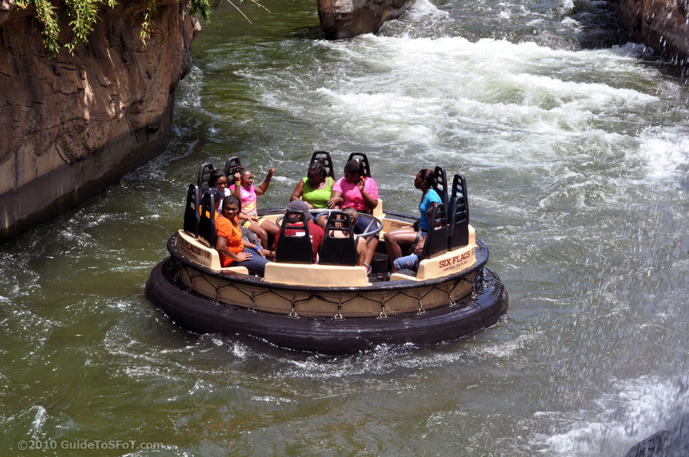 Roaring Rapids Ride Guide To Six Flags Over Texas