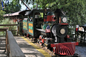 Steam-powered Six Flags Railroad