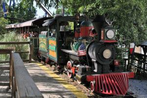 Steam-powered Six Flags Railroad