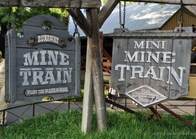 Mine Trains' Sign