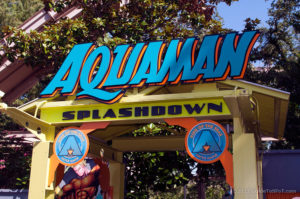 Aquaman Splashdown Entrance Sign