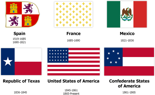 6 flags that have flown over Texas