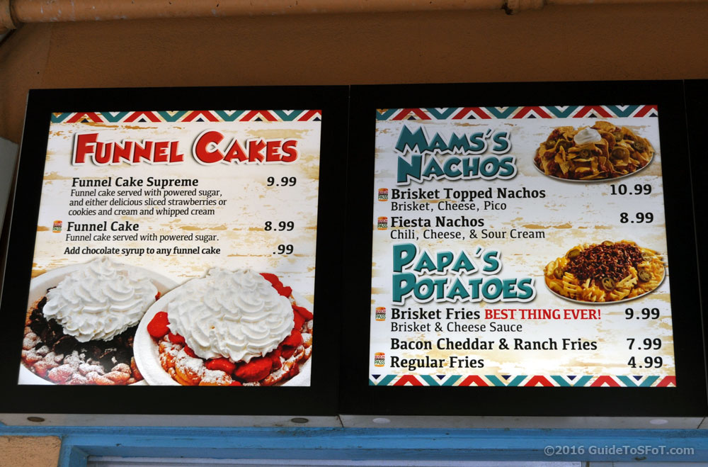 Six Flags Over Texas Food Menu Prices