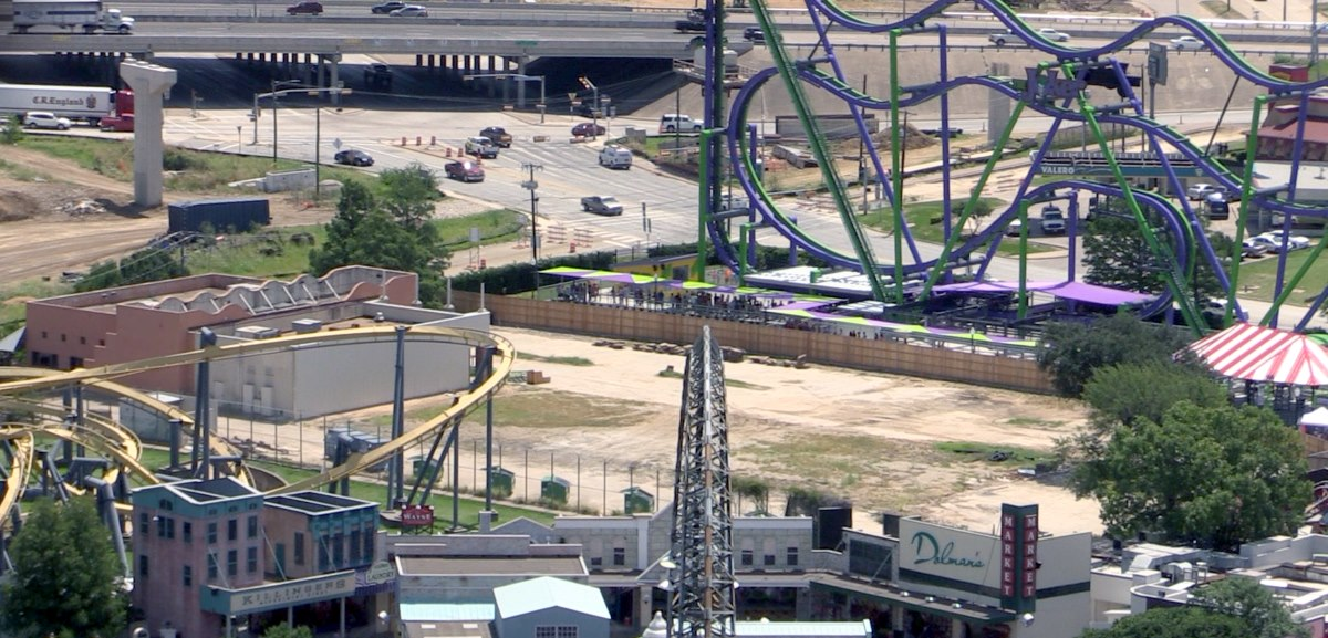 Undeveloped Six Flags over Texas land