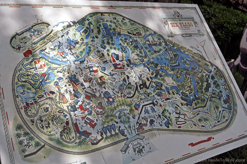 Old South France Area Guide To Six Flags Over Texas