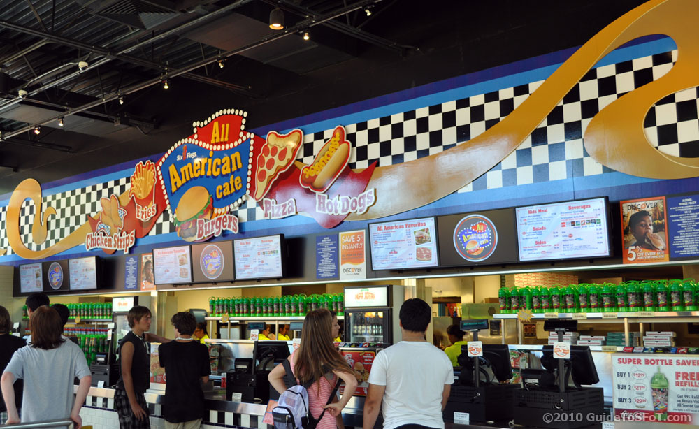 All American Cafe Guide To Six Flags Over Texas