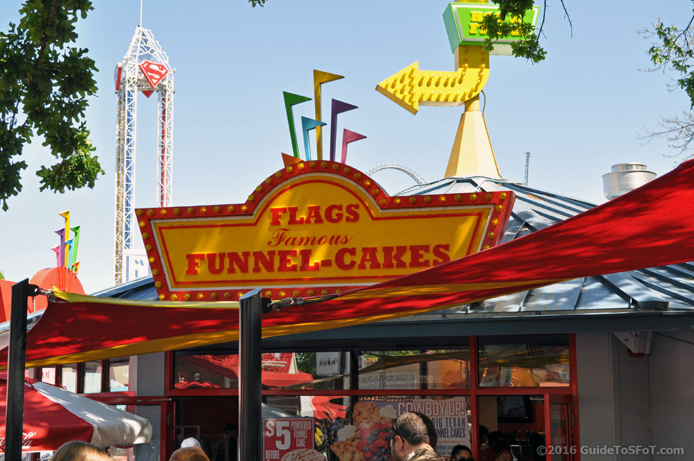 Flags Funnel Cakes Guide To Six Flags Over Texas